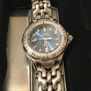 Fossil Watch - Silver blue face new battery